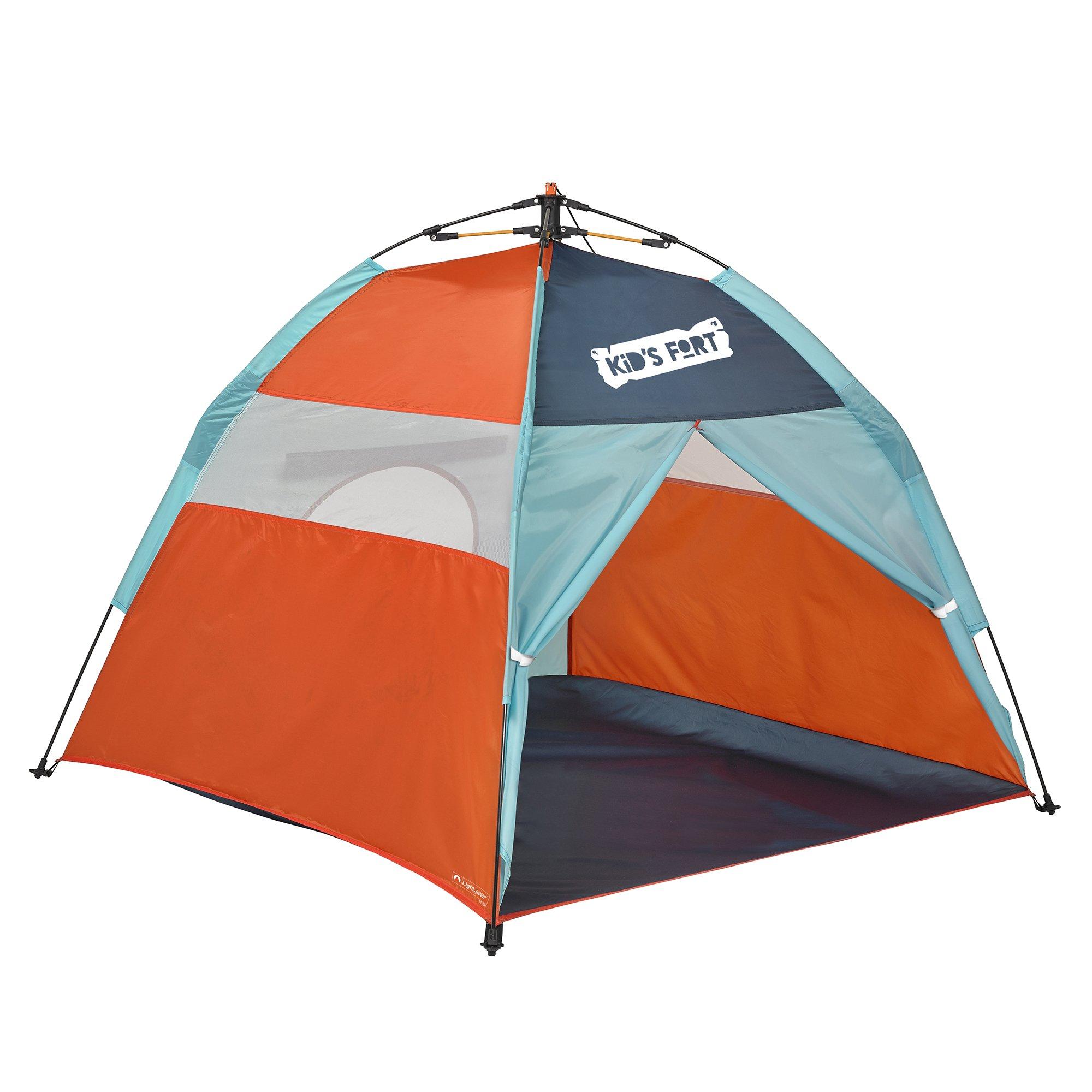 lightspeed outdoors kids fort pop up play tent with tunnel entrance ebay. Black Bedroom Furniture Sets. Home Design Ideas