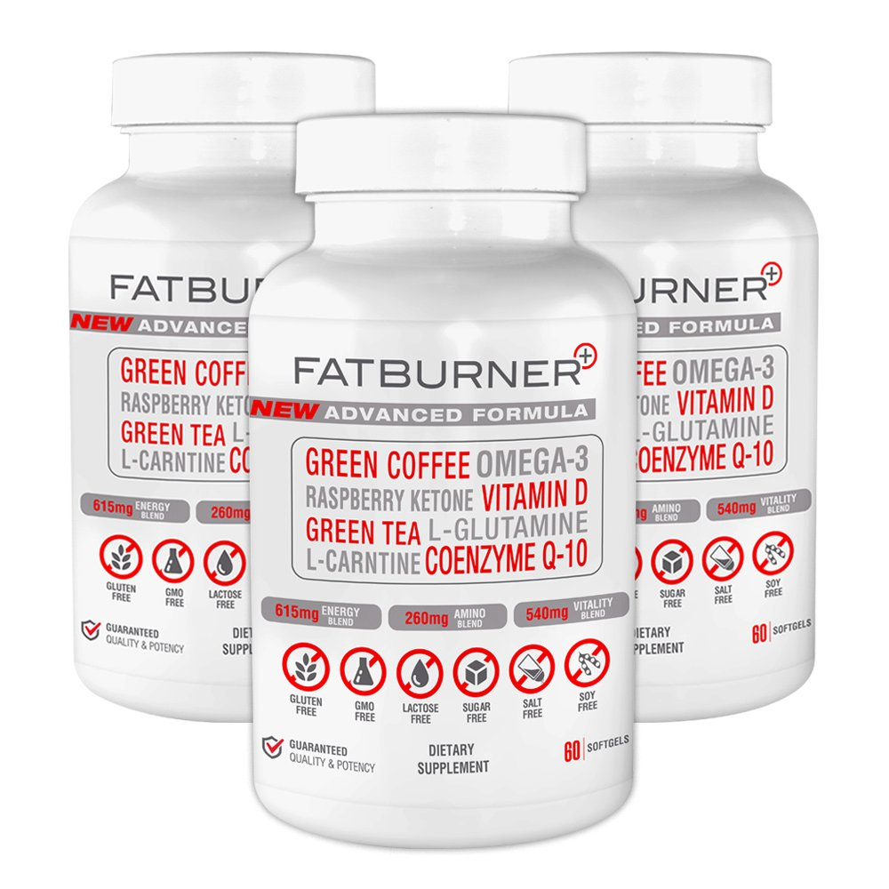 Fat Burner Plus - Advanced Weight-loss System | 3 Month Supply (180 Capsules)
