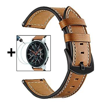TRUMiRR para Galaxy Watch 46mm Band + Paquete de 2 Protector de ...