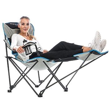 Relax Silla De Usuario Portabebidas Camping Acero Peso Skandika 130 Kg Armazón Plegable MáxDel 5AjL4R3