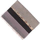 Lot de 7pcs 45 x 45cm Tissu en Coton pour DIY Artisanat Couture - Série Gris