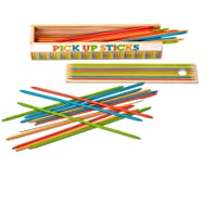 Melissa & Doug Wooden Pick-Up Sticks Tabletop Game (41 Pieces in Wooden Storage Box, Great Gift for Girls and Boys - Best for 4, 5, 6 Year Olds and Up)