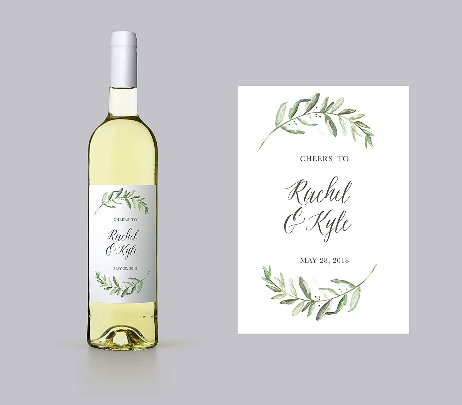 Wedding Wine Labels.Amazon Com Personalized Couples Wine Label Editable Wedding Wine