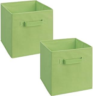 Ordinaire ClosetMaid 18654 Cubeicals Fabric Drawer, Green, 2 Pack