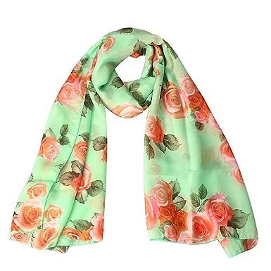 62c543a98451 Écharpe femmes Sexy châles de modèle de fleur rose et foulards Casual  Loose