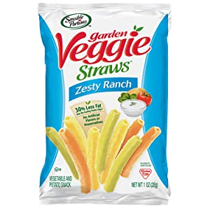 Sensible Portions Garden Veggie Straws, Zesty Ranch, 1 oz. (Pack of 6)