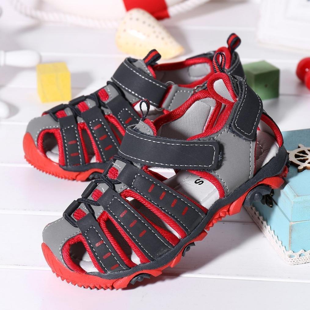 Ni/ños Ni/ños Zapatos Zapatos cerrados Boy Girl Sandalias de playa de veran Zapatillas /¡Verano caliente Gris, CN:21 ❤️ Manadlian