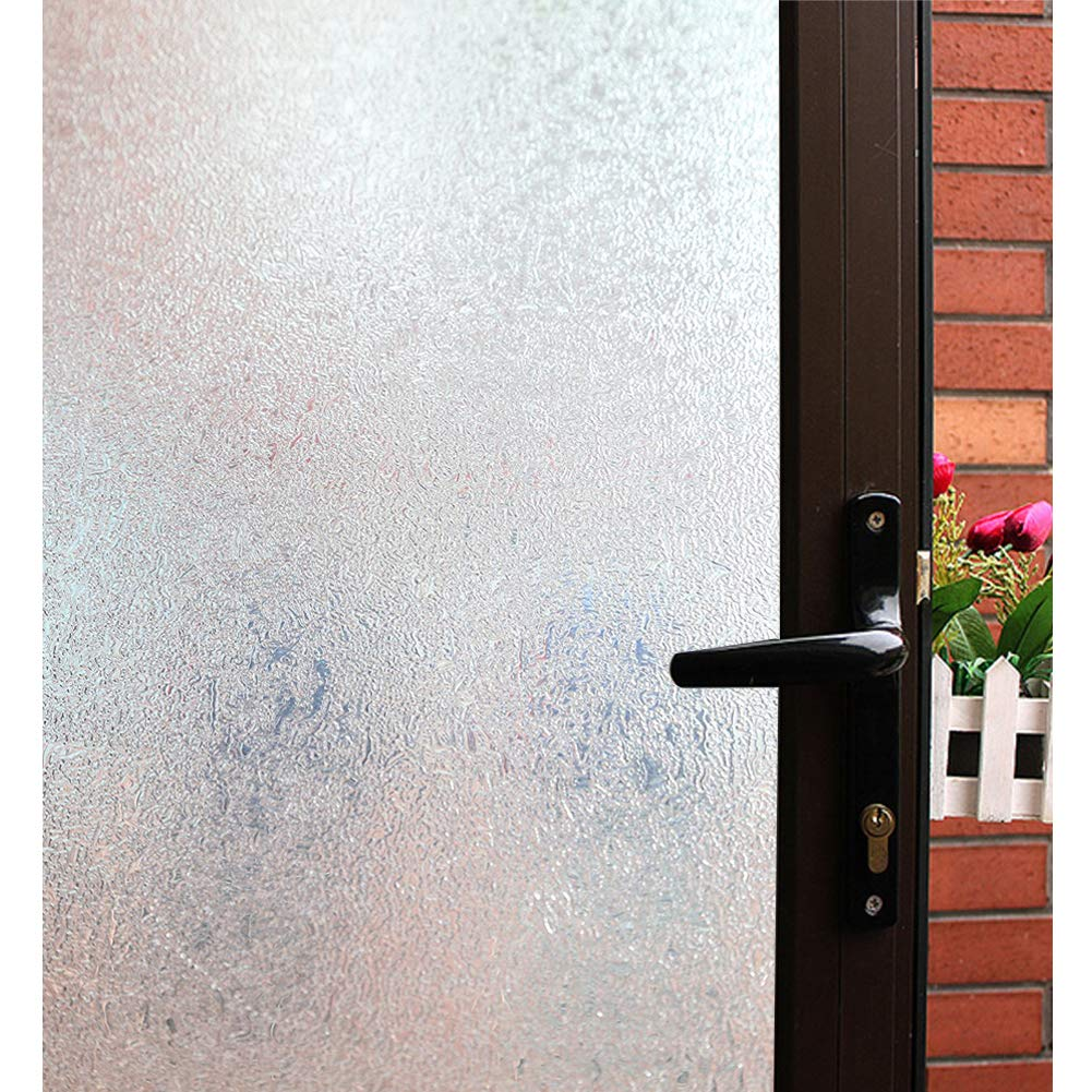 Mikomer Decorative Window Film,Clear Glass Door Film,Static Cling Window Tint Low Privacy,Removable/No Glue/Anti UV for Home and Office Decoration,35In. by 118In. by Mikomer
