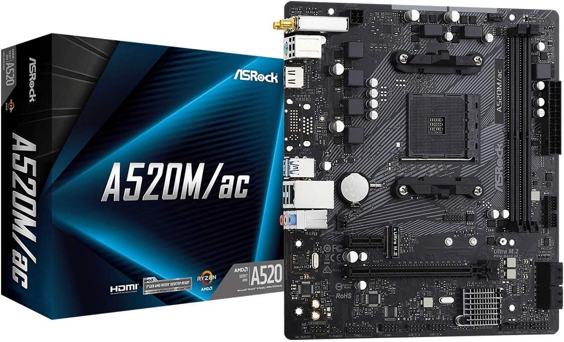 ASRock A520M/AC Micro ATX Motherboard