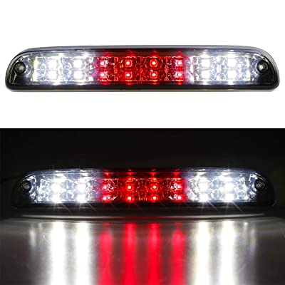LED 3rd Brake Light High Mount Trailer Cargo Lamp For 99-16 F250 F350 F-450 F-550 Ford Super Duty/93-11 Ranger/01-05 Ford Explorer/Mazda B-Series Chrome Housing Smoked Lens: Automotive