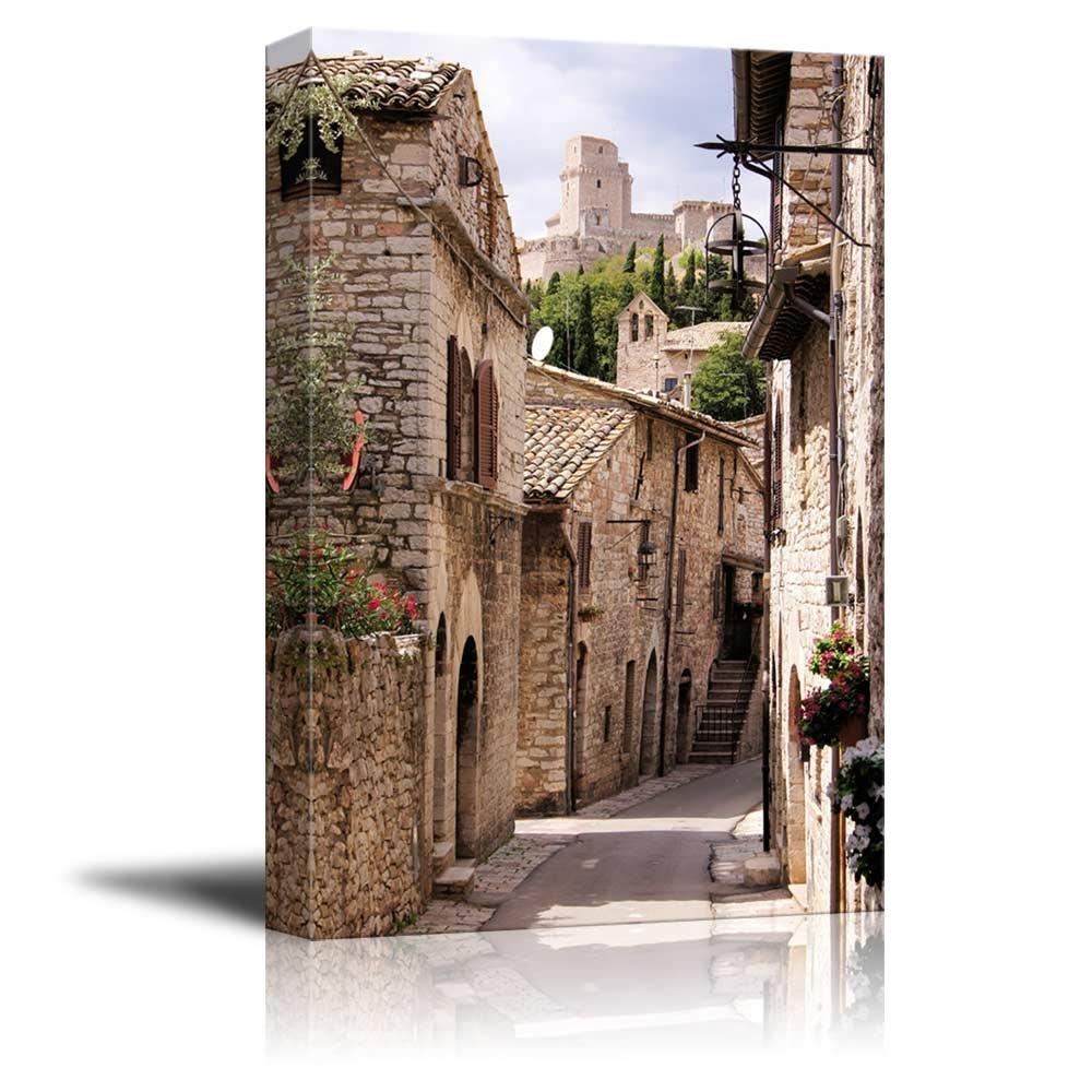 Wall26 art prints framed art canvas prints greeting canvas prints wall art beautiful landscapescenery medieval street in the italian hill town of assisi modern wall decor home decor stretched gallery amipublicfo Choice Image