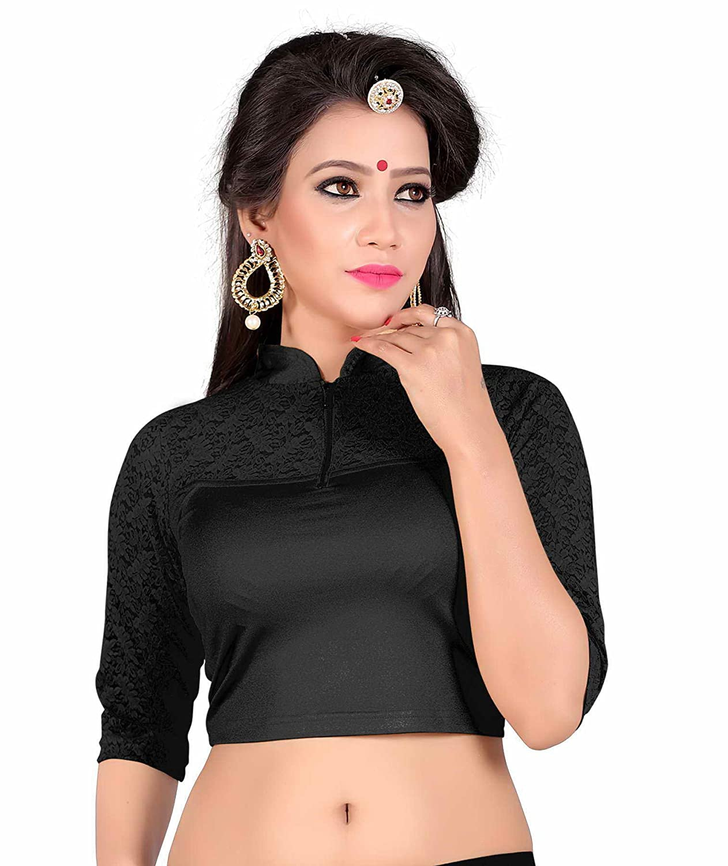 Floral Blouse Designer Blouse Black Party Wear Blouse Readymade Saree Blouse