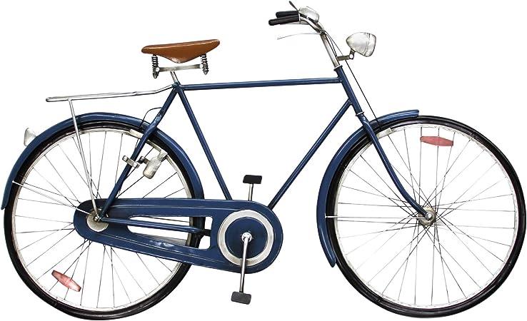 Vidal Regalos Adorno Decorativo Pared Bicicleta Azul 110 cm ...