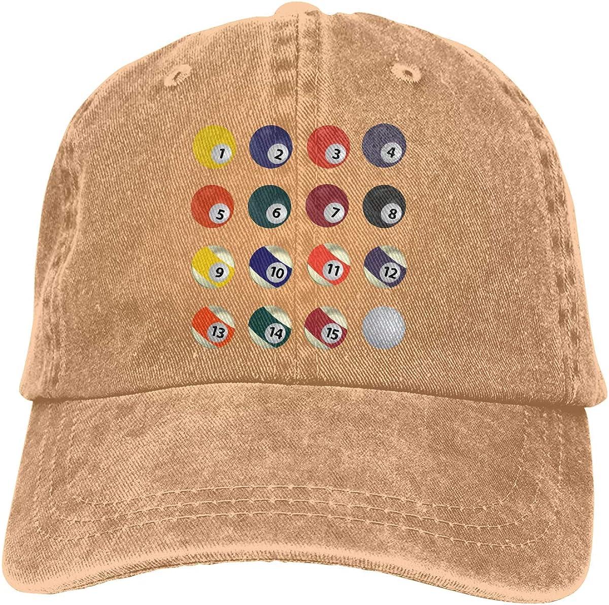 Q64 Billiards Adult Trendy Cowboy Casquette Adjustable Baseball Cap