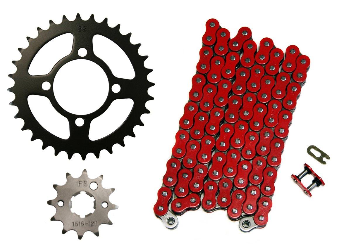 Red 520x76 O-Ring Drive Chain 13//36 Sprockets 1998-12 Polaris Scrambler 500 4x4