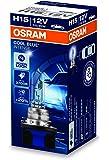 OSRAM Cool Blue Intense H15, Halogen-Scheinwerferlampe, +20%, Xenon-Look, 64176CBI, 12V PKW, Faltschachtel (1 Lampe)