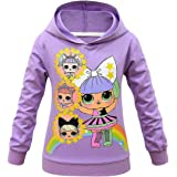 Rainbow Dolls Kitty Queen Unicorn Sudadera con capucha transpirable para niñas