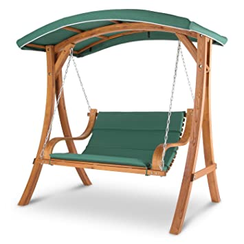 blumfeldt tahiti hamaca hollywood columpio balancn jardn 110 cm 2 asientos toldo polister - Hamacas Jardin