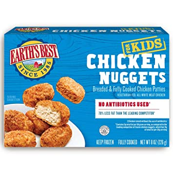 Earths Best Organic Frozen Chicken Nuggets 8 Oz