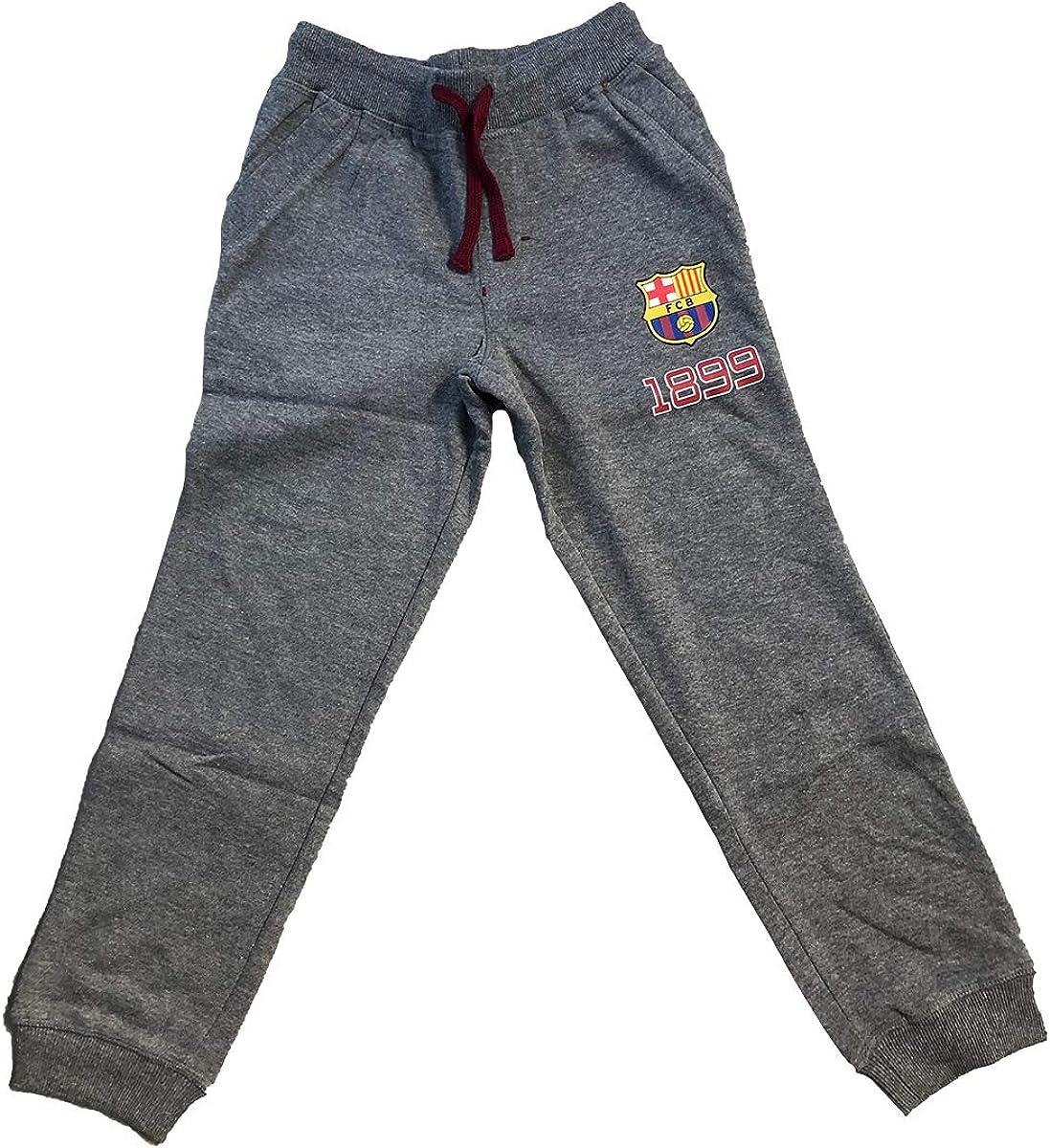 Disney - Pantalón bajo de Jogging FC Barcelona FCB para niño Azul ...