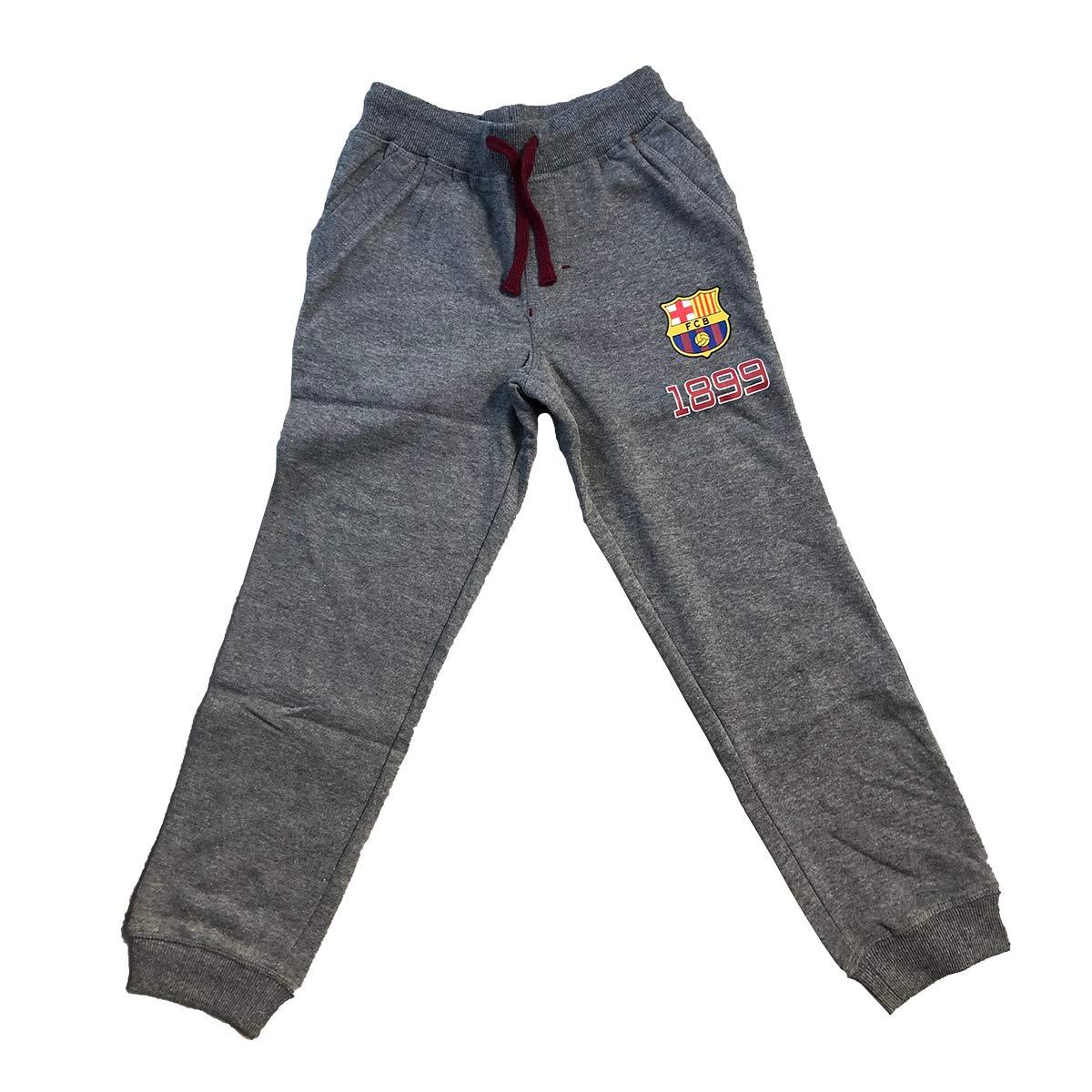Disney - Pantalón bajo de Jogging FC Barcelona FCB para niño Gris ...
