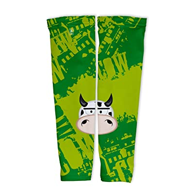 Little Cow Compression Arm Sleeves UV Protection Unisex - Walking - Cycling - Running - Golf - Baseball - Basketball