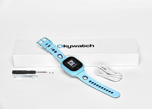 Smartwatch GPS para niños con localizador y teléfono, Resistencia al Agua, Cámara Selfie, SOS, Llamadas y Mensajes, Reloj GPS con Ranura para Tarjeta SIM, Compatible con iOS/Android.: Amazon.es: Relojes