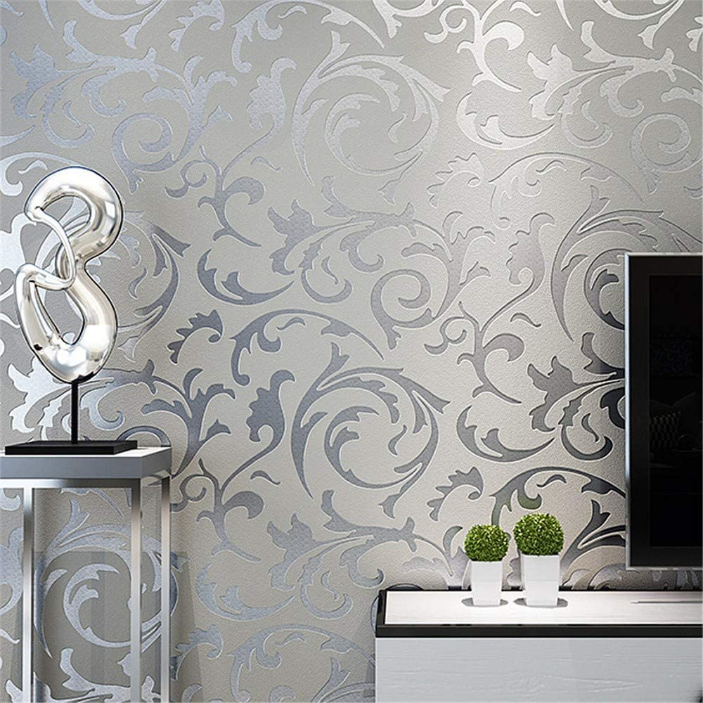 Zhcmy Wallpaper Classic Luxury 3d Flower Embossed Texture