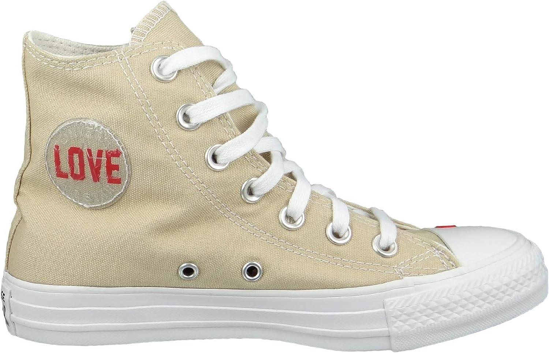 Converse Chucks 567155C Chuck Taylor All Star Love Canvas HI Desert Ore Beige Desert Ore University Red