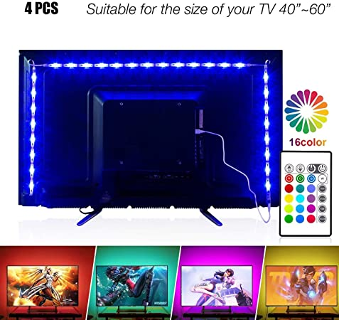 Amazon Com Led Strip Lights 6 56ft For 40 60in Tv Pangton