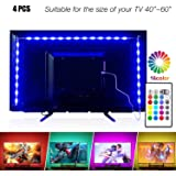 PANGTON VILLA Led Strip Lights 6.56ft for 40-60in TV USB Backlight Kit with Remote 16 Color 5050 Bias HDTV for 40-60