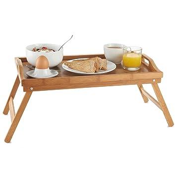Vonhaus Bambus Betttablett Bett Tablett Frühstückstablett Fürs Bett