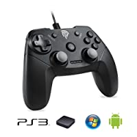 EasySMX Game Controller for PC/PS3 /Android Phones (Black)