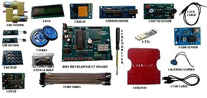 Amazon buy embeddinators 8051 microcontroller development embeddinators 8051 microcontroller development advance diy kit8051 board programmer other interfacing modules solutioingenieria Image collections
