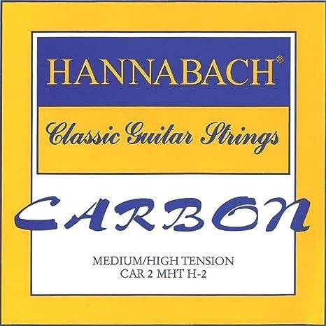 Hannabach Cuerdas Para Guitarra Clasica Carbono Tension Media/Alta ...