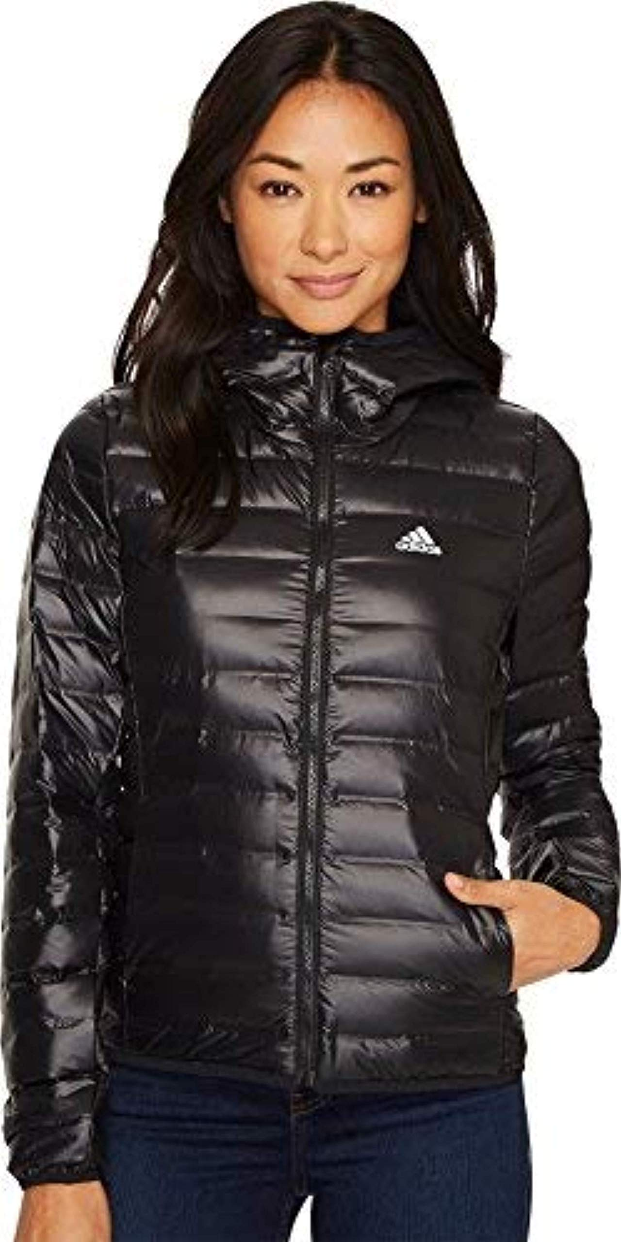 adidas outdoor Women's W Varilite Hooded Jacket, 2XL, Black