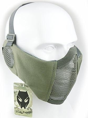 Mascarilla protectora de malla inferior de nailon con cubierta para la oreja de Worldshopping4U, Tactical Airsoft CS, FG: Amazon.es: Deportes y aire libre