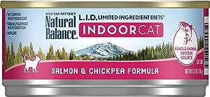 Natural Balance L.I.D. Ltd Ingredient Diets Wet Cat Food, Salmon & Chickpea Formula, 5.5 Oz Can, 24 Pack