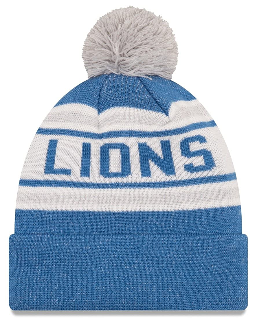 7b173b6870bb73 Amazon.com : New Era NFL Detroit Lions Adult Toasty Cover Knit Beanie, One  Size, Blue : Clothing
