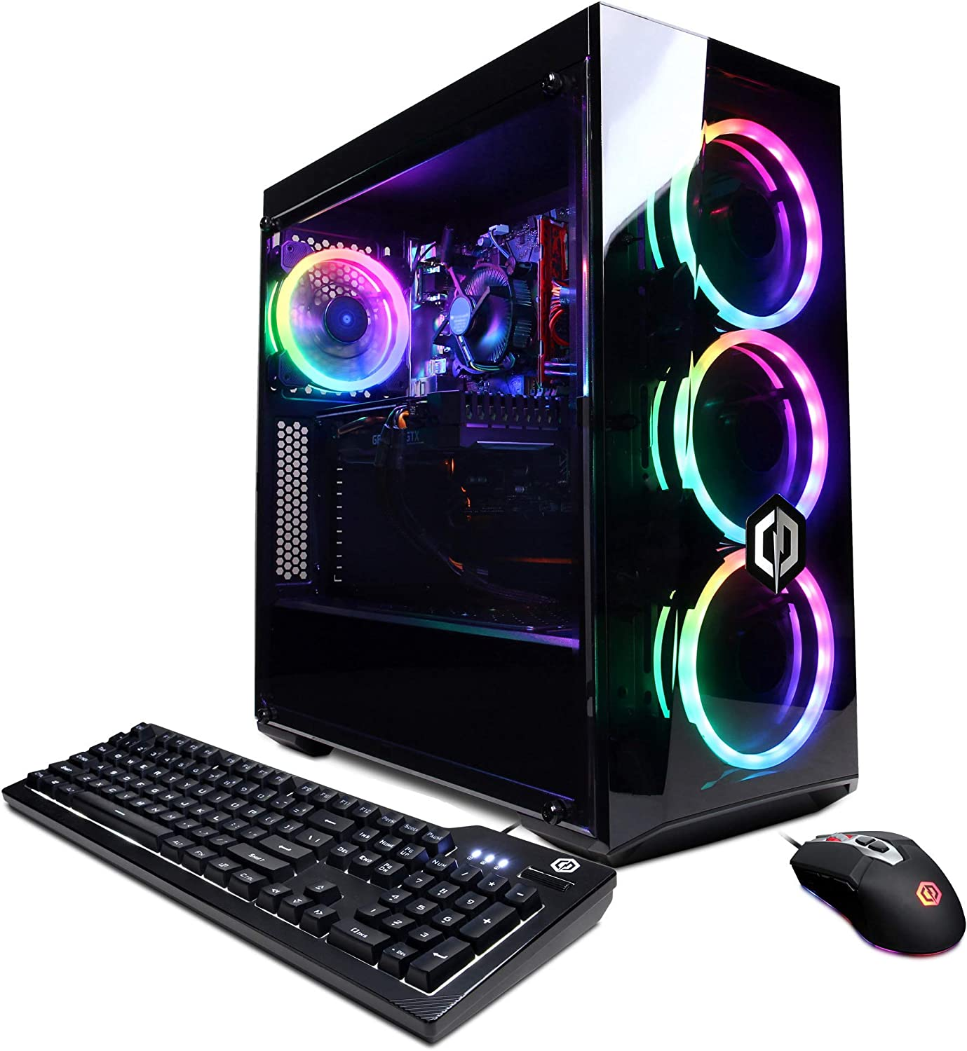 CyberpowerPC Gamer Xtreme VR Gaming PC, Intel i5-10400F 2.9GHz, GeForce GTX 1660 Super 6GB, 8GB DDR4, 500GB NVMe SSD, WiFi Ready & Win 10 Home (GXiVR8060A9)