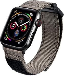 MOFREE Bands Compatible with 44mm Apple Watch Band 42mm Series 5/6/SE, Soft Nylon Breathable Woven Sport Strap Wristband Replacement Band Compatible for iWatch 44mm/42mm Series /4/ 3/2/ 1 Dark Grey