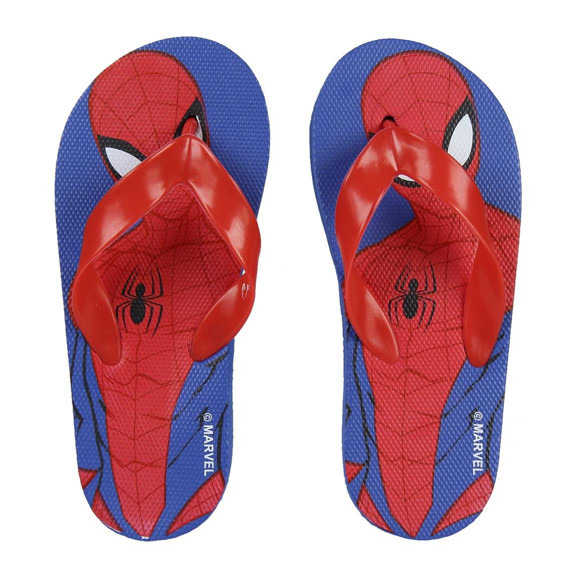 Marvel Spider-Man 2300002982 Tongs, Flip Flop, Garçon, Rouge (26/27) Spiderman