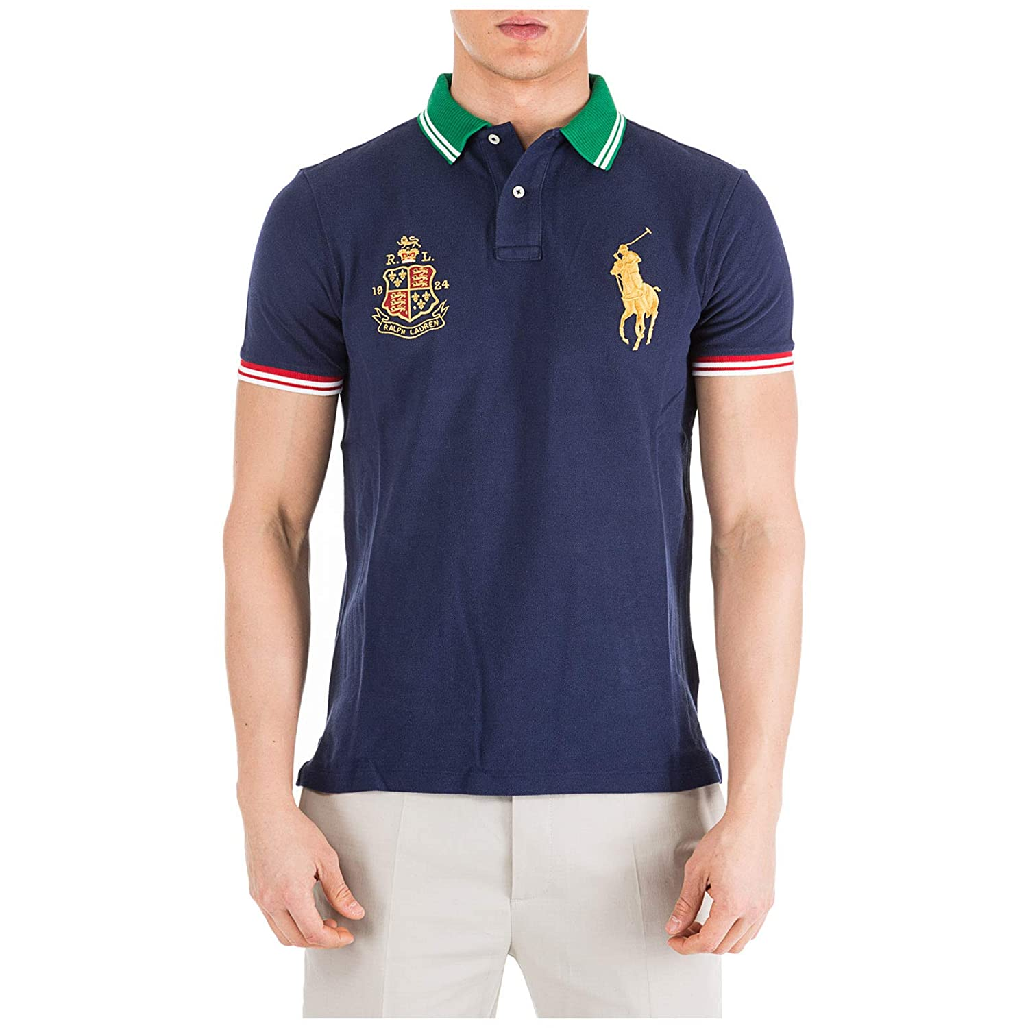 Polo Ralph Lauren Basic Slim fit Polo Newport Navy 740868-001 ...