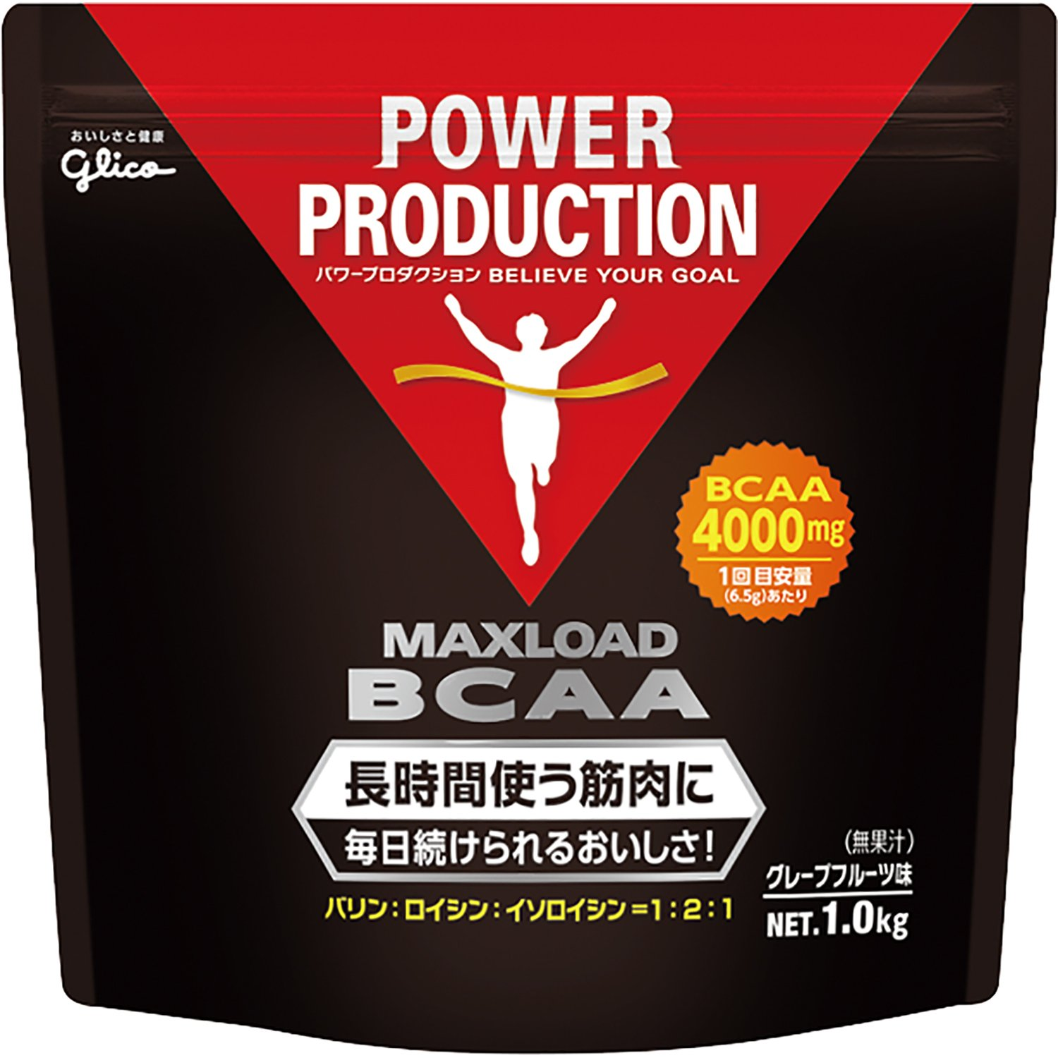 Japan Health and Beauty - Glico Power Production Max load BCAA muscle endurance-based amino acid grapefruit flavor 1kg *AF27*