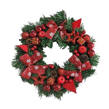 convinced christmas door wreath lightedwreath hangerschristmas wreath 40cm diy garland window door