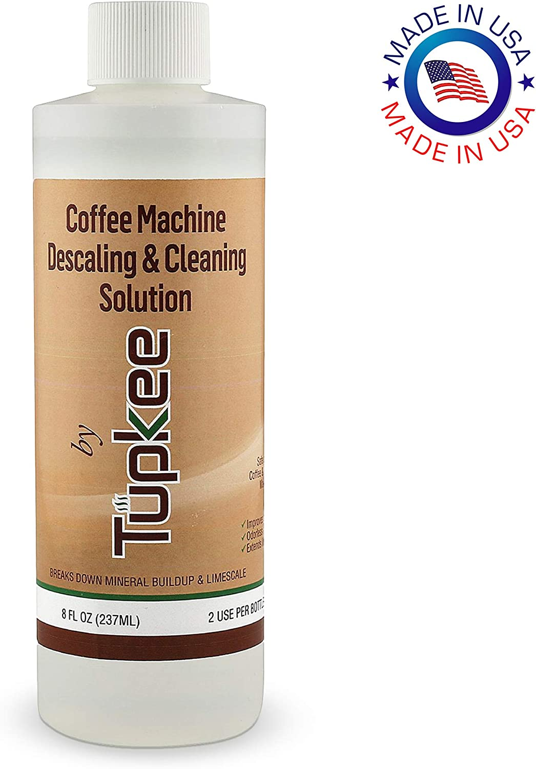 Tupkee Coffee Machine Descaling Solution – Universal, For Drip Coffee Maker, nespresso, delonghi, and Keurig Coffee Machines Descaler & Cleaning Solution, Breaks Down Mineral Buildup and Limescale 71jUDT-EUdL