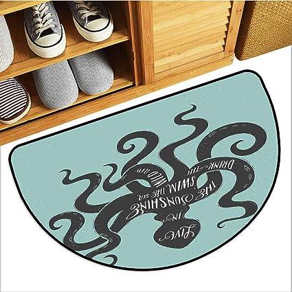 Amazon com : Axbkl Door mat Octopus Live in The Sunshine