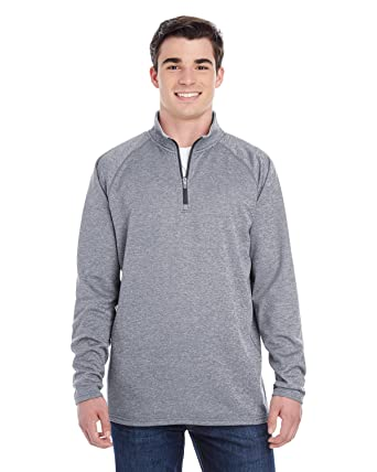 00efe70b Champion Mens Double Dry Colorblock 1/4 Zip Jacket (S230) at Amazon ...