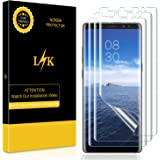 [3 Pack] LK Screen Protector for Samsung Galaxy Note 8, Liquid Skin [New Version] [Full Coverage] [Case Friendly] HD Clear Flexible Film with Lifetime Replacement Warranty
