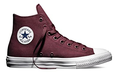 28166d5f8f2 Converse Chuck Taylor All Star II Hi Deep Bordeaux White Navy Classic Men s  3.5